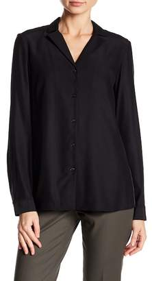 Lafayette 148 New York Alicia Combo Back Blouse