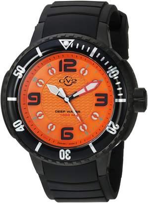 GV2 by Gevril Men's 8904 Termoclino Analog Display Quartz Black Watch
