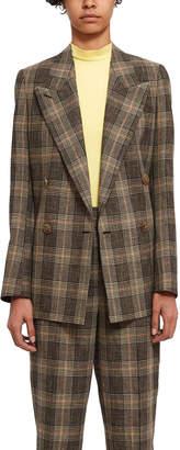 Acne Studios Plaid Suit Jacket