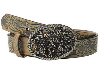 Ariat Floral Scroll with Oval Buckle Belt