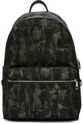 Dolce & Gabbana Green Camo Backpack