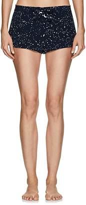 GILDA & PEARL Women's Luna Galaxy-Print Silk Shorts