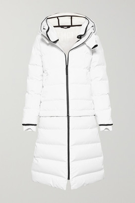 TEMPLA - 3l Verba Convertible Hooded Quilted Down Ski Coat - White
