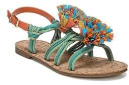 Sam Edelman Bice Fabric Flat Sandals