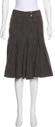 Gerard Darel Striped Knee-Length Skirt