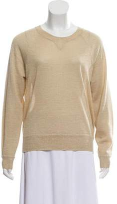 Elizabeth and James Wool Metallic Top Gold Wool Metallic Top