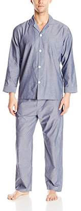 Geoffrey Beene Men's Striped Broadcloth Pajama Set