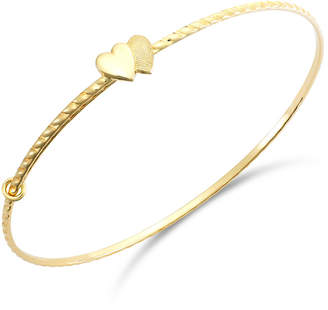 Macy's Children's Double Heart Twist Bracelet in 14k Gold