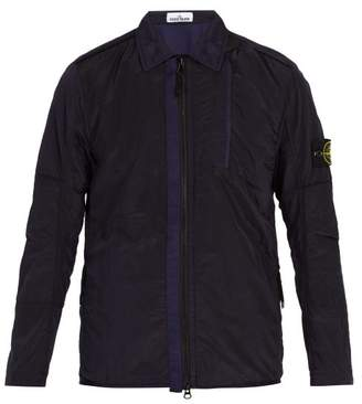 Stone Island Technical Overshirt - Mens - Navy