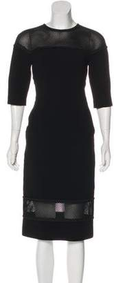 Fendi Mesh-Accented Sheath Dress w/ Tags