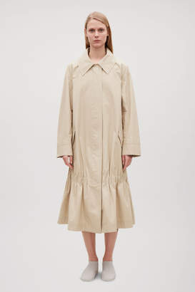 Cos GATHERED CANVAS COAT