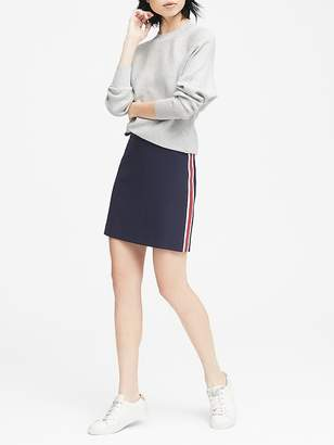 Banana Republic Petite Side-Stripe Mini Skirt