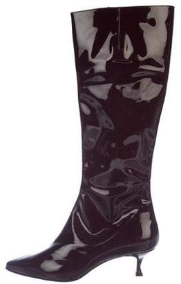 Christian Louboutin Patent Leather Knee-High Boots