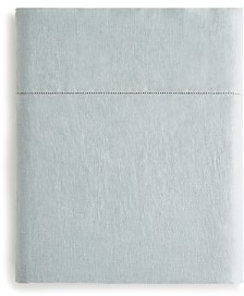 Amalia Home Collection Stonewashed Linen Flat Sheet, Queen - 100% Exclusive