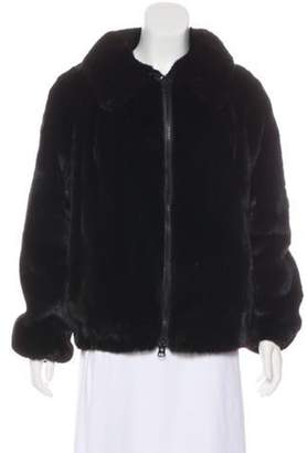 Mink Bomber Jacket Brown Mink Bomber Jacket