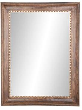 DecMode Decmode Traditional 48 X 36 Inch Rectangular Dark Brown Wood And Metal Framed Wall Mirror