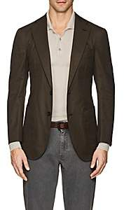 P. Johnson Men's Cotton Two-Button Sportcoat - Olive