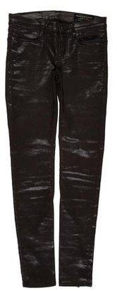 AllSaints Sheen zipper-Adorned Jeans $85 thestylecure.com