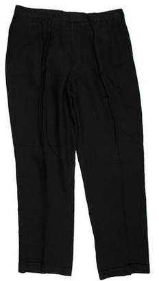 Ralph Lauren Purple Label Cuffed Linen Pants