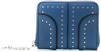 Tod's studded zip-around wallet