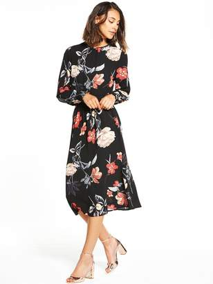 AX Paris Long Sleeve Printed Midi Dress