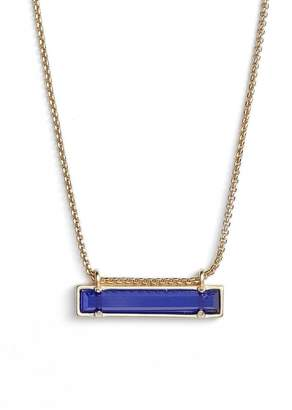 Kendra Scott KendraScott Leanor Cobalt Cats Eye/Gold Pendant Necklace