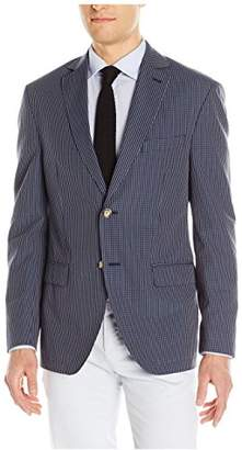 Franklin Tailored Men's Modern Seersucker Gingham Newton Sport Coat