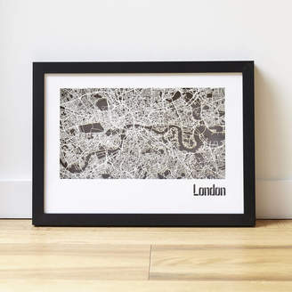 PHOME London Map Cut Out Street Map