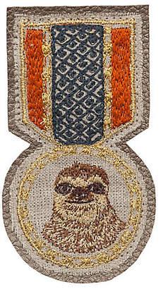 Coral & Tusk Sloth Medal Pin