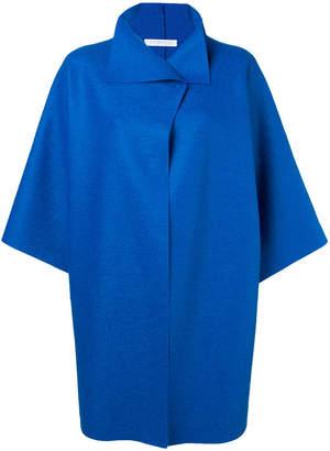 Harris Wharf London turnover collar cropped sleeve coat
