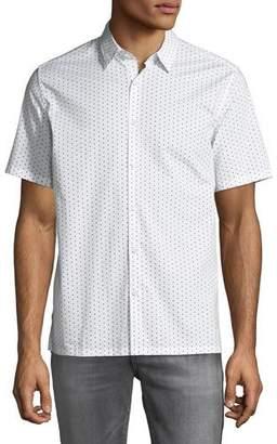Theory Men's Murray Polka Dot Short-Sleeve Sport Shirt