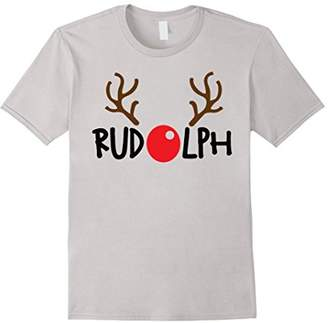 Reindeer Rudolph Face Ugly Christmas Sweater T-shirt