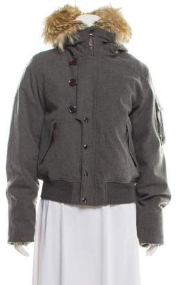 d84df346f Grey Wool Puffer Jacket - ShopStyle