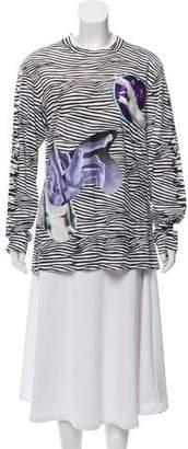 Proenza Schouler Zebra Mixed Statue Graphic T-Shirt w/ Tags