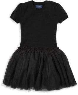 Ralph Lauren Little Girl's& Girl's Tulle Sweater Dress
