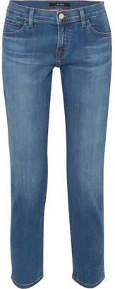 J Brand Sadey Cropped Mid-rise Slim-leg Jeans