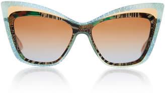 Christian Roth Rock 'N Roth Oversized Cat-Eye Sunglasses