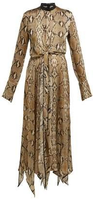 897cc1865baf Petar Petrov Dehli Python Print Silk Chiffon Dress - Womens - Beige Multi