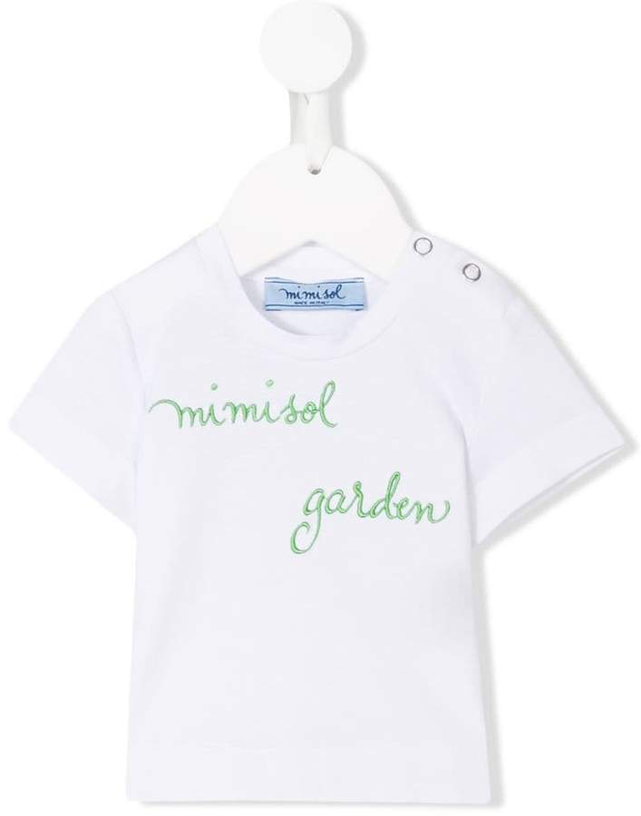 Mi Mi Sol T-Shirt mit aufgesticktem Logo