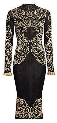 Fendi Men's Grille Royale Jacquard Knit Sheath Dress