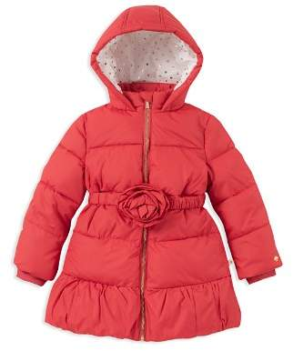 Kate Spade Girls' Rosette Puffer Jacket - Big Kid