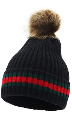 072bf79ce57 at Amazon Canada · doublebulls hats Knitted Beanie Women Lady Girls Fluffy  Pompom Warm Cap Autumn Winter Hat