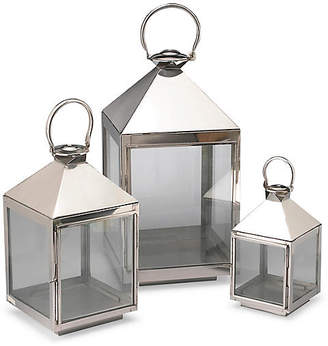One Kings Lane Asst. of 3 Siesta Lanterns - Polished Aluminum