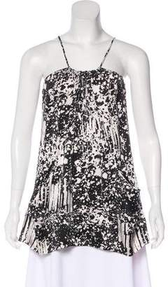 Armani Exchange Silk Sleeveless Top