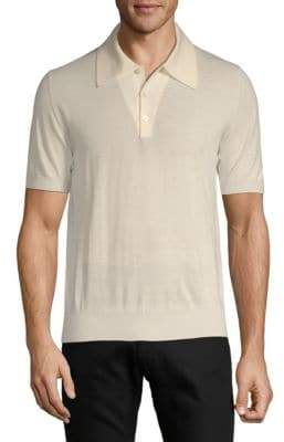 Brioni Wool Ribbed Trim Polo