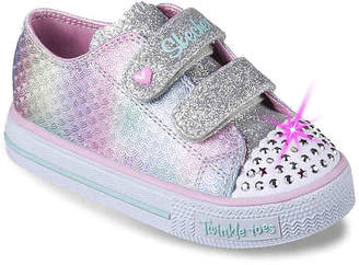 27b4f86cb6a9 Skechers Twinkle Toes Shuffles Ms. Mermaid Toddler Light-Up Sneaker - Girl s