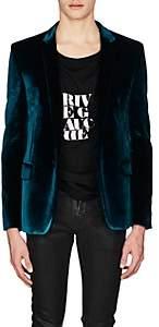 Saint Laurent Men's Velvet One-Button Sportcoat - Blue