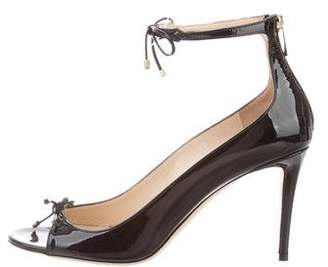 Jimmy Choo Patent Leather Bow-Accent Pumps