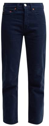Re/Done Originals Re/done Originals - High Rise Stovepipe Corduroy Jeans - Womens - Navy