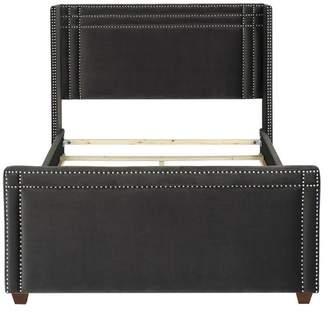 Jennifer Taylor Home Elle Upholstered Bed, Dark Charcoal Gray